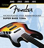 Fender Nickelplated Steel Roundwound, Long Scale, 7250M 45-105, Bass Strings